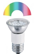 Ampoule E27 r50 à 9 leds 7 couleurs 230V