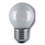 Ampoule sphérique E27 230V 15W dépolie