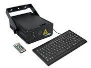 Laser à écriture LaserWorld EL-500RGB KeyTEX 500mW clavier et télécommande