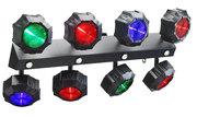 Effet led Contest Double rampe à 8 LEDs9W TRI et 4 LEDs blanches Flash
