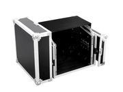 Flight case pour régie Combo 6U vertical et 10U horizontal avec tablette