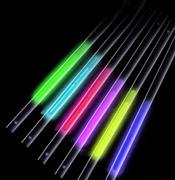 Lot de 25 pailles fluorescentes