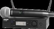 Micro sans fil Shure GLXD24RE-SM58-Z2 récepteur et Emetteur main SM58 avec Kit de rack et antennes déportées