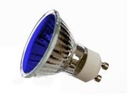 Lampe GU10 halogène 230V 50W 25° Bleu