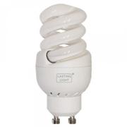 Ampoule GU10 fluo economique 11W sans reflecteur blanc chaud