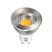 Lampe GU10 230V à leds COB 5W blanc froid 6000K dimmable