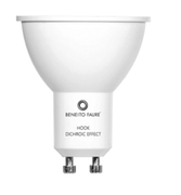 AMPOULE LED HOOK GU10 6W 220V 60º DICHROIC EFFECT LED 3000k