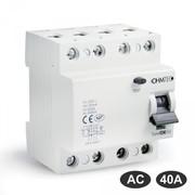 Interrupteurs différentiels 30mA tétrapolaires 40A type AC Ohmtec