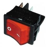 Interrupteur à bascule bipolaire 16A Rouge avec temoin lumineux