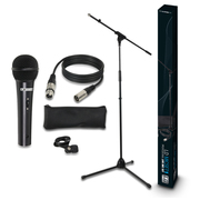 Set complet LD Systems micro chant + pied avec perche + cable + pince + étuit