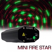 Laser mini fire STAR bicolore vert 40mW + rouge 100mW Télécommande