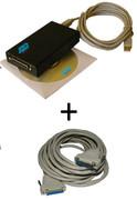 Pack ILDA Nicols, interface + cordon usb + cordon ILDA 3m + logicile mini ILDA