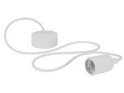 Luminaire à suspension en cordage Velleman douille E27 Blanc
