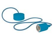 Luminaire à suspension en cordage Velleman douille E27 Bleu