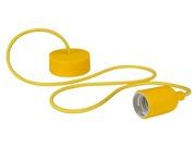 Luminaire à suspension en cordage Velleman douille E27 Jaune