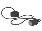 Luminaire à suspension en cordage Velleman douille E27 Noir
