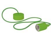 Luminaire à suspension en cordage Velleman douille E27 Vert