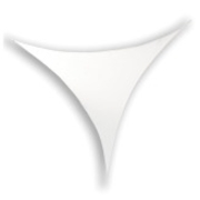 Velum Lycra triangle 185X185cm extensible à 250X250cm max non ignifugé