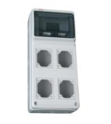 Boîtier vide Série M-Box 8 modules et 4 prises PCE