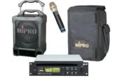 Enceinte autonome MIPRO MA707 PAD Pack 100W lecteur CD MP3 USB Bluetooth 1 Micro HF et housse
