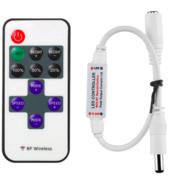 Contrôleur pour ruban led unicolore 5V 12V ou 24V avec télécommande RF