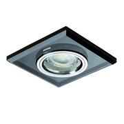 Plafonnier encastrable fixe verre noir carré