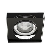 Plafonnier verre noir carré encastré spot fixe sans lampe
