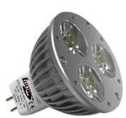 MR16 à 3 LED 1W blanc jour 6400K 12v