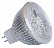 MR16 à 4 LED 4X1W blanc neutre 3100K 12v ** fin de série **