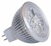 MR16 à 4 LED 4X1W blanc chaud 2700K 12v