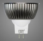 MR16 à led SHARP  Omega 435 lumens GU5.3 12V 6W blanc Chaud 2700K  42°