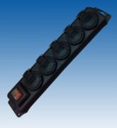Multiprise 5 prises + interrupteur étanche IP44 3X1.5mm2