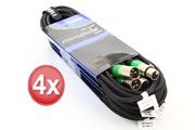 Pack de 4 câbles XLR micro et audio 5m