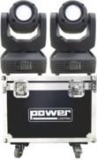 Pack de 2 lyres beam Power lighting Tiger 1R en flight
