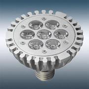 Ampoule PAR30 à 7 leds 1W Blanc chaud 230V