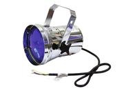 Projecteur Par 36 chromé sans lampe et sans prise pour installation fixe