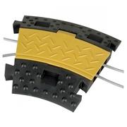 Virage à 30° pour passage de câbles 2 canaux 250mm
