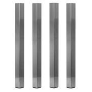 Set de 4 pieds de praticables ProStage 80cm