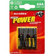 Pile alkaline AAA 1,5V LR3 lot de 4 piles