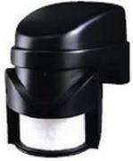 Détecteur de mouvement et d'obscurité IP44 noir orientable