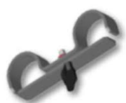 Jonction pour liaison de 2 pieds de praticables ASD