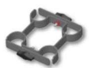 Jonction pour liaison de 4 pieds de praticables ASD
