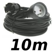 Rallonge 10m cordon prolongateur H5VV 3 X 1.5mm² noir éco
