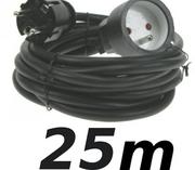 Rallonge 25m cordon prolongateur H5VV 3 X 1.5mm² noir éco
