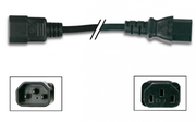 prolongateur secteur noir IEC male vers femelle 3G1.0mm² 3m