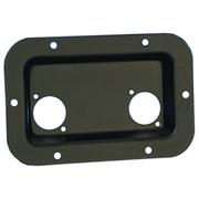 Adam Hall Hardware 8708 BLK - Cuvette Encastrable pour 2 Embases XLR ou Speakon noir