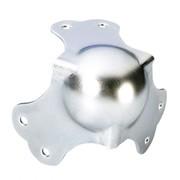 Coin boule de flight case 3 angles et 6 fixations 64mm