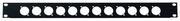 Facade 1U 19' pour 12 XLR ou Speakon ou powerkon
