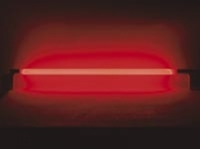 Tube fluorescent avec alimentation et interrupteur rouge 36W 145cm