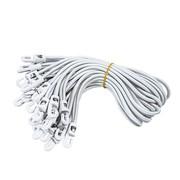 Lot de 25 garcettes blanches pour rideau accroche sur tube 50mm